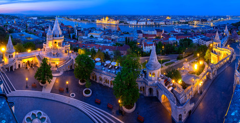 Budapest's panorama a Buda one is famous for a hotel's roof taking a photo © Pixelhaloid
