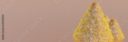 абстрактные золотые елки - 213510501