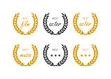 Laurel wheat awards heraldry antiquity. Winner triumph and success vector laurel - 213515310