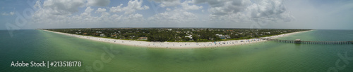 In de dag Napels Epic drone aerial image Naples Beach Florida