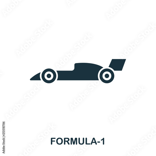 Fotobehang F1 Formula 1 icon. Premium style icon design. UI. Illustration of formula 1 icon. Pictogram isolated on white. Ready to use in web design, apps, software, print.
