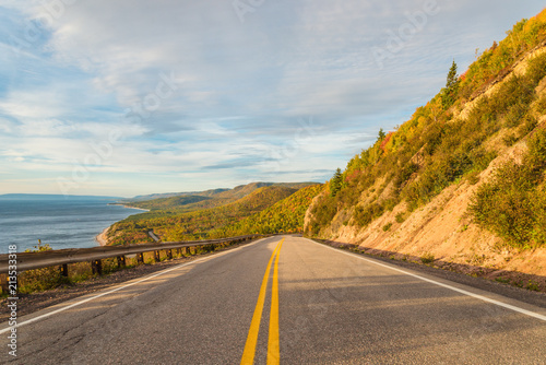 In de dag Canada Cabot Trail scenic view