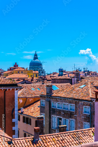 Above the rooftops of Venice, Italy - 213537343