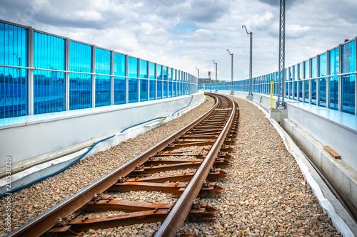 Railway tracks - viaduct Krakow Krzemionki - Krakow Zablocie