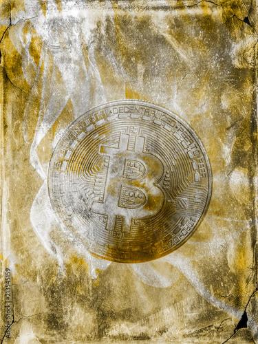 Bitcoin-Münze grafisch verfremdet