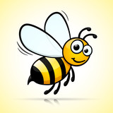 bee design on white background