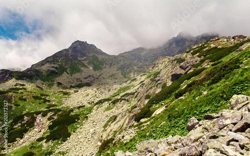 Fototapeta Mountain landscape High tatras mountains in Slovakia