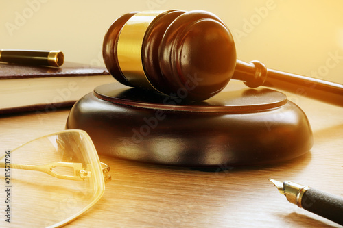 Gavel in the court. Justice and legislation concept.