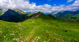 Mountain Scenery in the Alps of Austria - Hiking in the highland of Europe - 213582788
