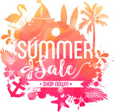 Summer sale vector poster