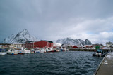 Panorama of the Norwegian village - 213585757