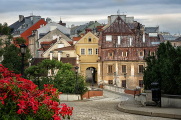 View of old town of Lublin from Lublin Castle, Poland