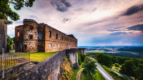 Foto Murales Giechburg Castle Ruin in Bavaria, Germany, high dynamic range image