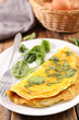 omelet with spinach - 213597163