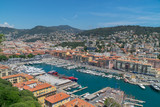 View over harbour, France - 213600327