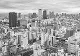 Skyline of Osaka city, Japan - 213601151