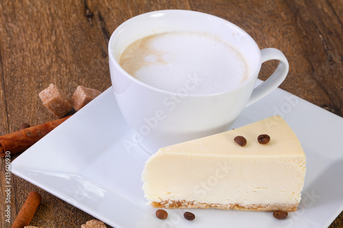 Poster Coffee with cheesecake