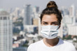 Air pollution or virus epidemic in the city - 213607739