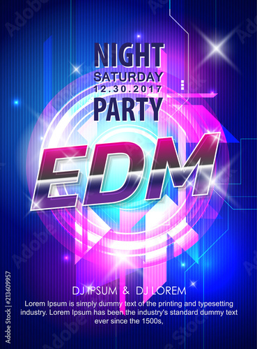 abstract background electronic dj music party design poster vector