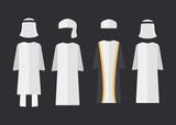 Arab man clothes. Arab man clothes vector illustration sign - 213621706