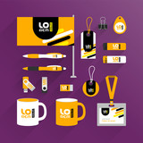 Corporate identity template and promotional gifts - 213624596