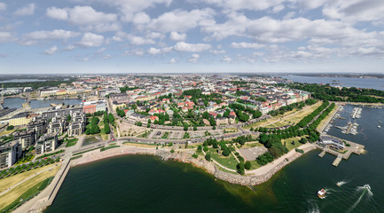 Panoramic aerial view of Helsinki, Finland © Lev Karavanov