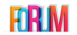 Forum colorful vector word. - 213628987