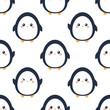 Cute cartoon penguin pattern - 213635553