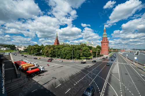Foto Spatwand Moskou Moscow, russia view of the red square
