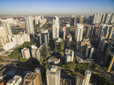 Aerial view of big city, Moncao neighbohood, Sao Paulo Brazil, South America