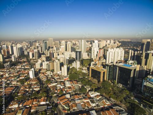 Poster Aerial view of big city, Moncao neighbohood, Sao Paulo Brazil, South America