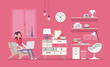 Girl room interior design