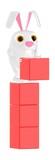 3d character , rabbit arranging boxes - 213649189
