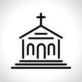 church icon on white background - 213649584