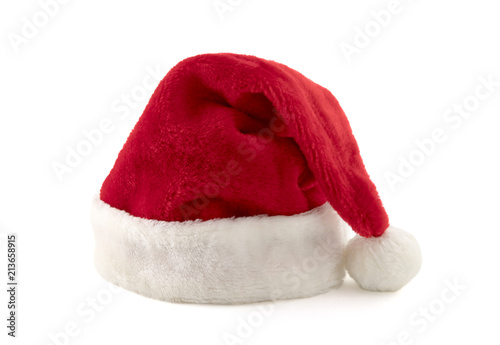 Santa Claus red hat isolated...