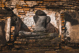 Old historic building in the ancient city of Ayuttaya, Thailand - 213660526
