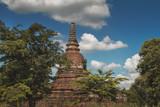 Old historic building in the ancient city of Ayuttaya, Thailand - 213661174