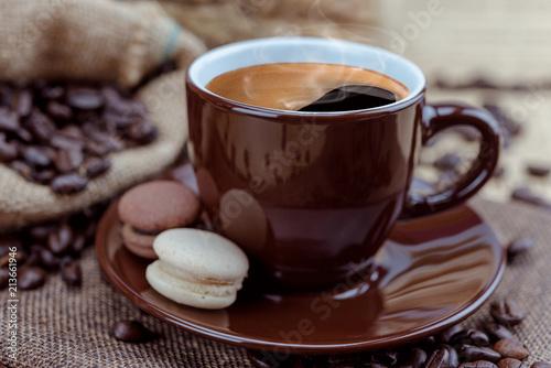 coffee cup on sack