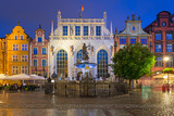 Architecture of Artus Court in Gdansk at night, Poland - 213663726