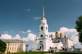 Bell Tower Of The Dormition Cathedral In Vladimir, Russia. Dormition Cathedral In Vladimir - Assumption Cathedral. - 213702375