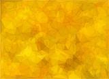 Abstract pure yellow triangular background with polygonal abstract shapes - 213711369