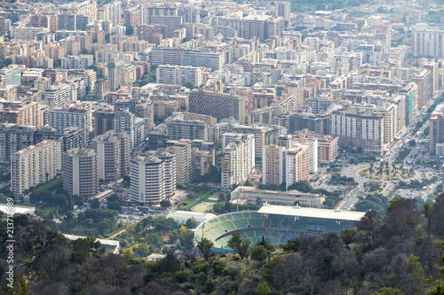 Plexiglas Palermo Aerial view of Palermo city, Sicily, Italy