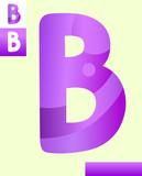 letter b graphic design illustration - 213718109