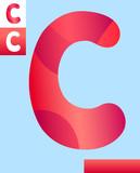 letter c graphic design illustration - 213718123