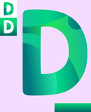 letter d graphic design illustration - 213718134