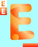 letter e graphic design illustration - 213718148