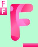 letter f graphic design illustration - 213718158