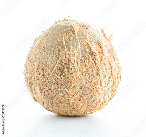 coconuts isolated on the white - 213722508