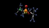 VR poison molecule. Molecular structure of the nerve agent VR, extremely toxic poison of the Novichok family. Alpha channel. - 213723740