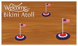 Welcome to Bikini Atoll poster with  Bikini Atoll  flag,  time to travel  Bikini Atoll . vector illustration isolated